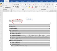 cara membuat daftar gambar word cara membuat daftar isi otomatis di word praktis buat skripsi