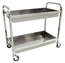 dolly kitchen island cart amazon com cart serving steel stainless kitchen utility catering