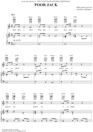 flute sheet for the nightmare before