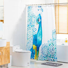 Peacock Curtains And White Peacock Shower Curtains