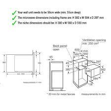 Standard Size Microwave by Neff H11we60n0g 800w 20l Built In Standard Microwave In Stainless