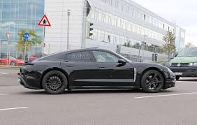 electric porsche mission e porsche mission e electric sedan photographed for the first time