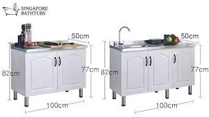free standing kitchen sink cabinet freestanding sink singapore standalone luxurious