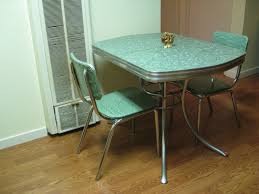 Kitchen Table And Chairs With Casters by Fabric Polyester Solid White Counter Height 1950s Formica Kitchen