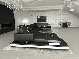 ledercouch design ecksofa couchgarnitur ledersofa designer sofa messana led