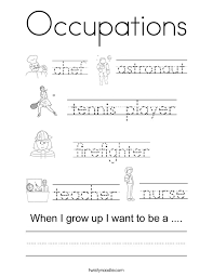 occupations coloring page twisty noodle