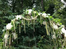 Wedding Arch Greenery White And Green Flowers For Arbor Greenery Wedding Arch