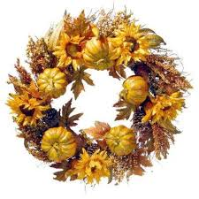 fall garland wreaths fall decorations the home depot