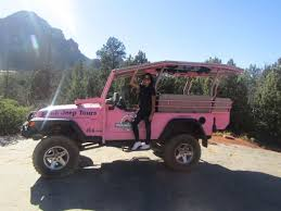 jeep lifted pink thanks for the lift picture of pink jeep tours sedona sedona