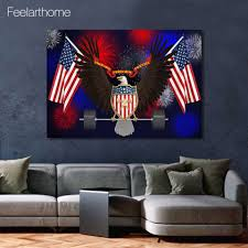 eagle home decor aliexpress com buy 1 piece canvas art canvas painting american