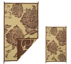 5x8 Outdoor Patio Rug by Barbara King Floral 5x8 Reversible Outdoor Mat W Matching 3x5