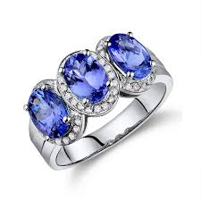 tanzanite stones rings images Stone 2 73 ct blue tanzanite bridal ring with diamond pave jpg