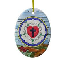 luther seal stained glass window tree ornament 13 95