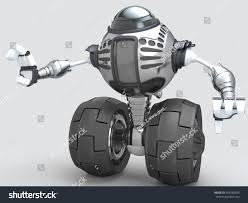 futuristic design 2wheel self balancing robot stock illustration