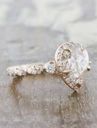 shaped rings images Nolah pear shaped diamond in rose gold twisted band ken dana jpg