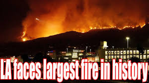 Wildfire History by La Faces Largest Fire In History Floods And Fire In Extreme Us
