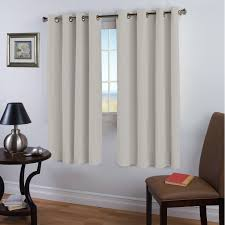 blackout room darkening curtains beige ivory thermal insulated