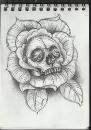 skull inside of a rose tattoo design tattoos pinterest
