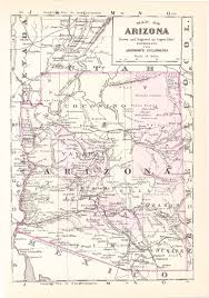 State Map Of Arizona by Old Maps Of Arizona Pictures