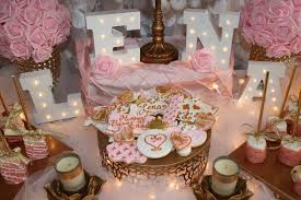 rose gold candy table pink gold and white bdashd events