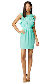 aquamarine katrina dress by shoshanna for 50 60 rent the runway