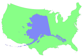 Usa Map Alaska by Compare Size Alaska Vs Usa 1578 1068 Mapporn