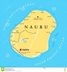 Micronesia Map Nauru Political Map Stock Vector Image 74458248