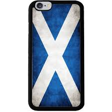 scottish saltire grunge style flag rubber phone case cover