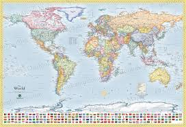 Greenland World Map by Political World Map With Flags All Countries U0026 Lots Of Cities