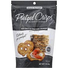 pretzel delivery pretzel crisps sea salt pepper san francisco liquor delivery from