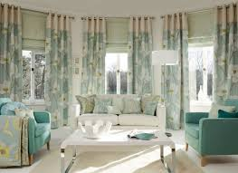 extra long curtains living room contemporary with bay window beige