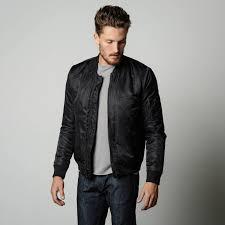 mens nylon er jacket with black zippers in black 125 dstld