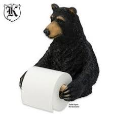 rivers edge products standing bear toilet paper holder river u0027s