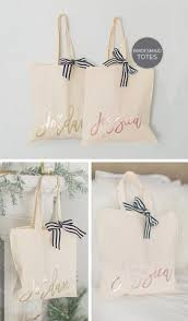 bridesmaids gift bags personalized bridesmaid gifts custom gifts the white invite