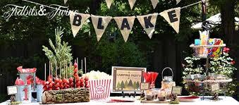 Backyard Birthday Decoration Ideas Backyard Campout Birthday Party Tidbits U0026twine