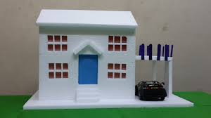 how to make thermocol bungalow house model project for