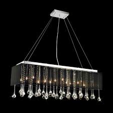 Black Chandelier With Shades Brizzo Lighting Stores Gocce Modern String Shade Crystal Part 65