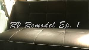 rv remodel ep 1 electric sleeper sofa custom rv bed youtube