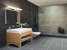 same tile in different colors and sizes on walls and floors