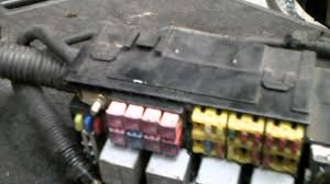 daewoo kalos fuse box youtube