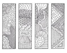 4 bookmarks printable intricate mandala coloring pages instant