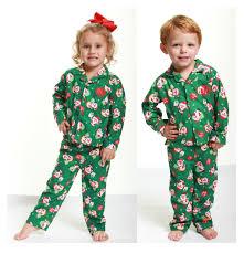 absorba 2017 christmas green santa button cotton down pajamas