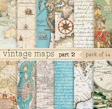 paper maps vintage maps digital paper patterns creative market