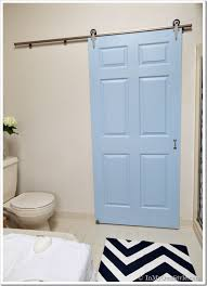 Door Ideas For Small Bathroom Bathroom Gets A Makeover Using Rolling Door Hardware