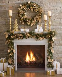golden pear decorated wreath and garland balsam hill