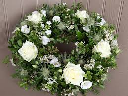 funeral wreaths funeral wreath in white local delivery in wiltshire and dorset