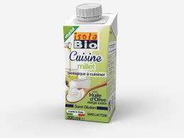 cuisiner le millet isola bio crème cuisine millet bio 24x200ml commander en ligne