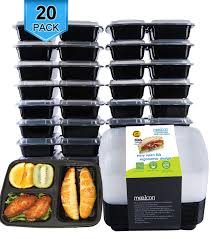 amazon com prep naturals meal prep containers 24 pack with lids