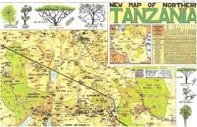 Tanzania Map Tanzania Safari David Kotz