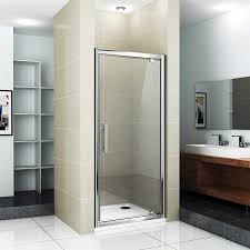 Infold Shower Door by Aquaspa Deluxe 900x800mm Shower Enclosure Pivot Door Panel Stone